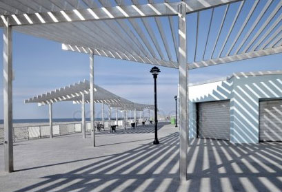 Smart Louvre System Pergola On The Beach